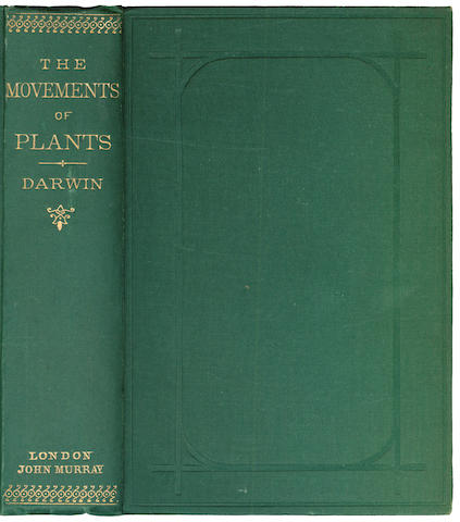DARWIN (CHARLES) The Power of Movement in Plants, 1880