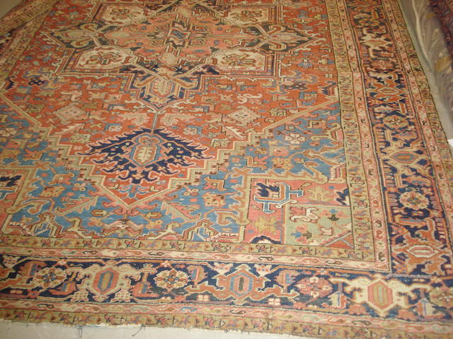 A Heriz carpet, North West Persia, 358cm x 260cm
