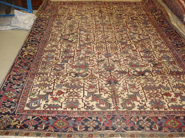 A Heriz carpet, North West Persia, 340cm x 242cm