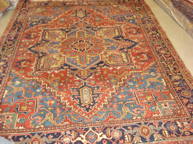 A Heriz carpet, North West Persia, 287cm x 218cm