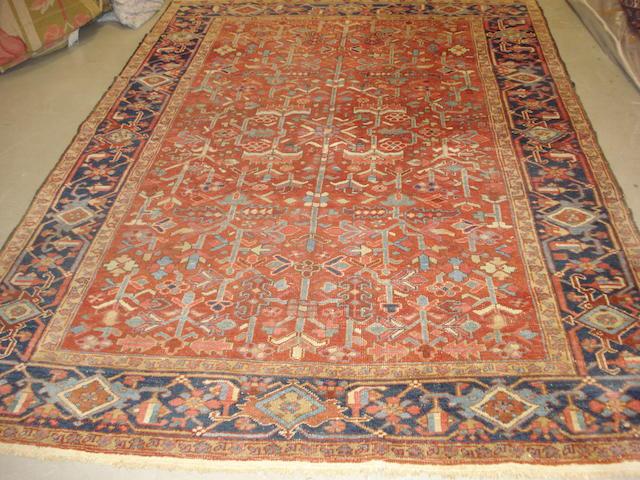A Heriz carpet, North West Persia, 282cm x 203cm