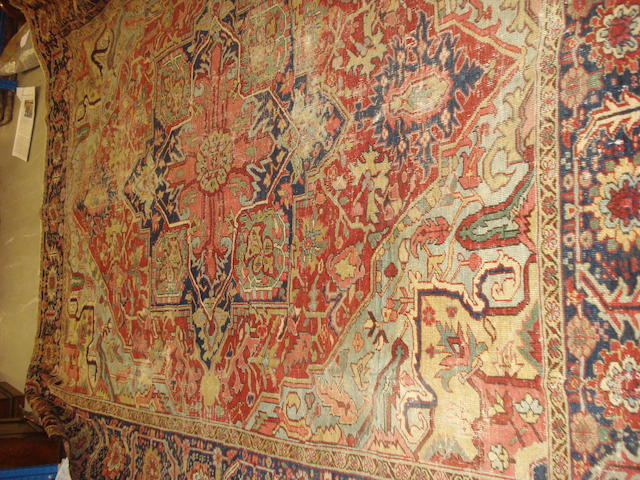 A Heriz carpet, North West Persia, 373cm x 291cm