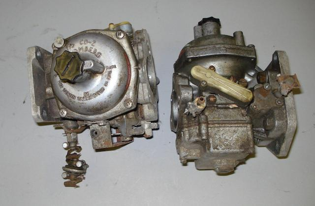 A pair of Zenith Stromberg 175 CD-2 carburettors for a Lotus Elan,