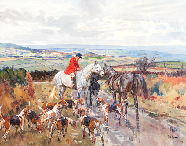 Peter Biegel (1913-1987) 'Changing Horses Kilkenny'