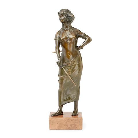 A late 19th century Art Nouveau style bronze figure of Salome
