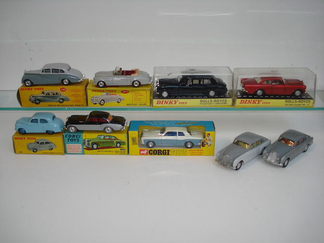 Rolls Royce and Bentley's by Dinky, Corgi and others lot