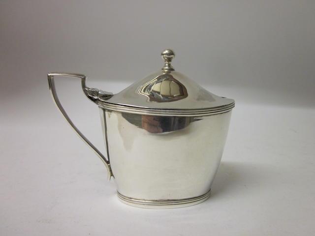 A George III oval mustard pot maker M and F, Edinburgh, circa 1800