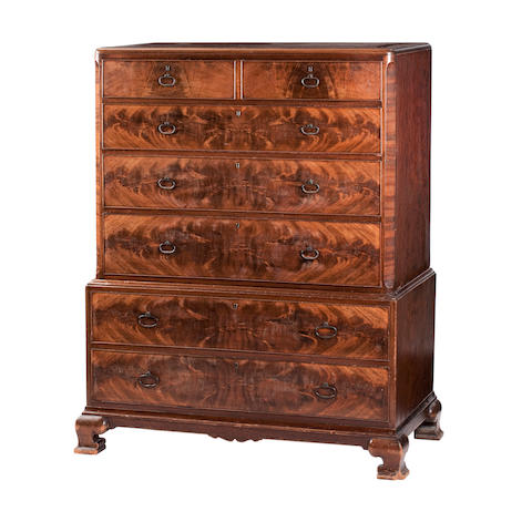 A walnut chest on chest by Whytock and Reid Edinburgh Second quarter 20th century
