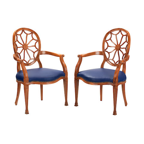 A set of eight modern neo-classical style chairs