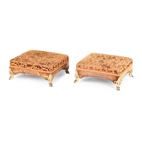 A pair of 19th century footstools