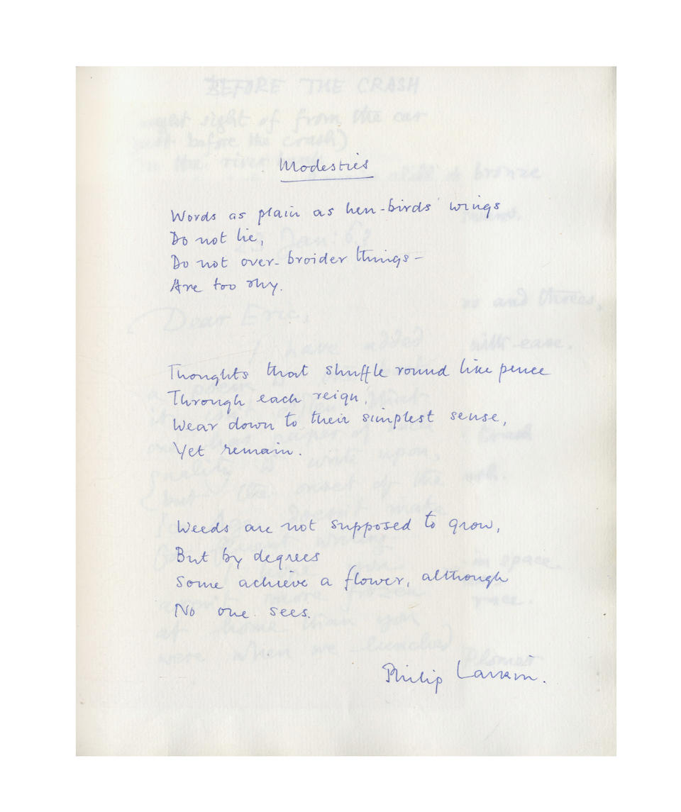 MODERN POETRY. THE ALBUM AMICORUM POETICORUM OR THE 'PERSONAL ANTHOLOGY' OF ERIC WALTER WHITE CBE (1905- 1985), 1962-1975