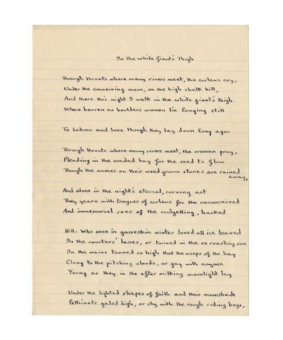 THOMAS DYLAN (1914-1953, Welsh poet)