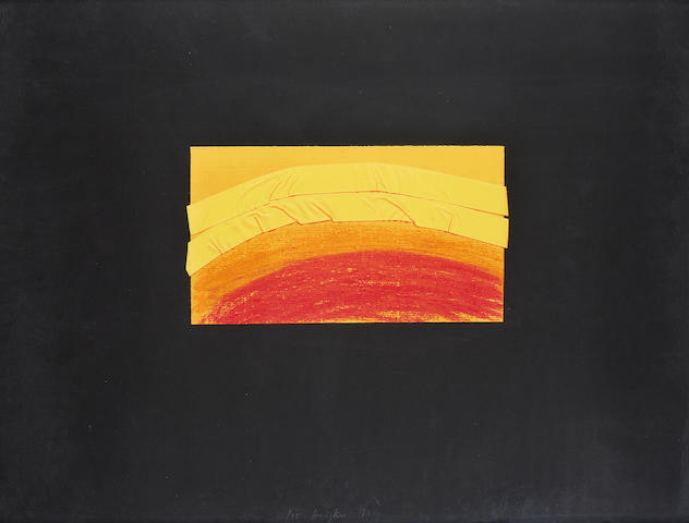 Sir Howard Hodgkin (British, born 1932) Indian view J Screenprint in colours, 1971, on wove, signed, dated and numbered 61/75 in pencil, published by Leslie Waddington Prints, London, printed at Kelpra Studios, London, the full sheet, 585 x 782mm (23 x 30 3/4in)(SH)