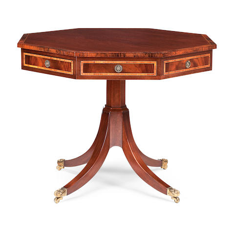 A walnut and rosewood-banded centre table Fourth quarter 20th century