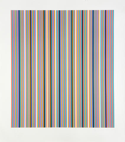 Bridget Riley (British, born 1931) Silvered 2 screenprint in colours, 1981, signed, dated, titled and numbered 20/75 in pencil, printed by Sally Grimson Artizan Editions, Hove, 862 x 760mm (34 x 30in)(I)