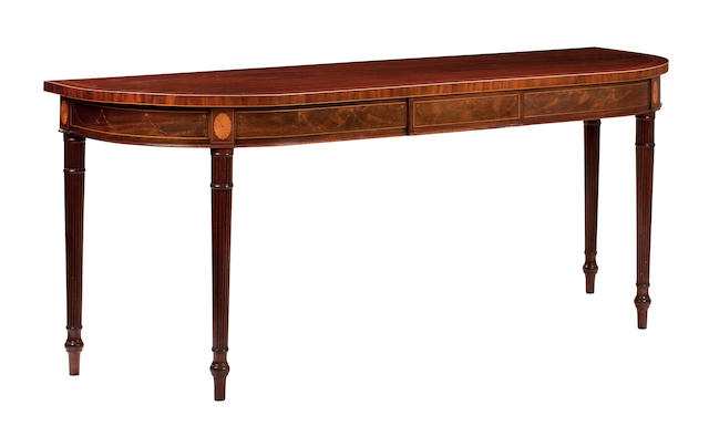 A Regency mahogany and inlaid serving table