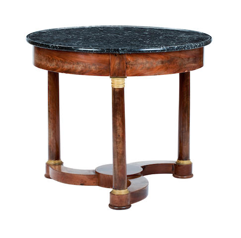 A Louis Philippe marble topped centre table Second quarter 19th century
