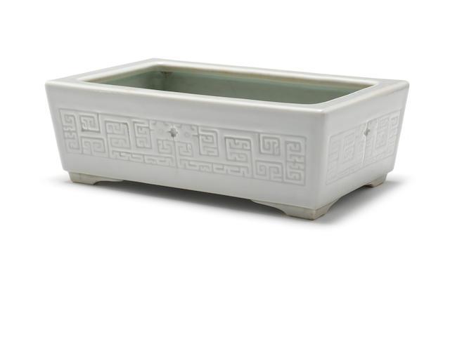A celadon-glazed jardinière Qianlong six-character seal mark