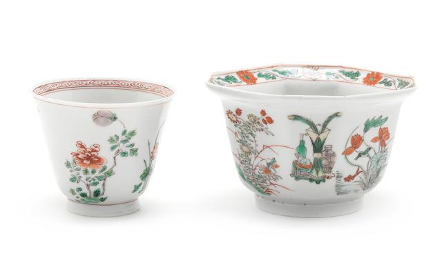 Two famille verte bowls Kangxi