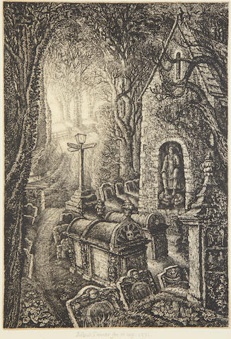 Robin Tanner (British, 1904-1988) Easter Etching, 1971, PAPER,   published Penn Print Room 1974 ed 50 Garton & Cooke 84 ed 25  393 x 270mm (15 3/8 x 10 5/8in)(PL)