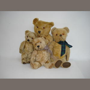 Four English Teddy Bears, 1950s