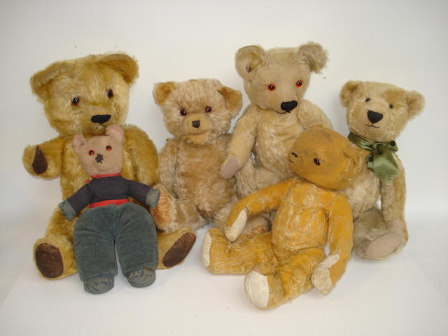 Collection of six English Teddy bears 6