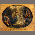 Flemish School, 17th Century The Nativity oval