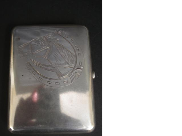 Silver/white metal cigarette case