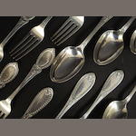 Part set Tiffany flatware (42oz)