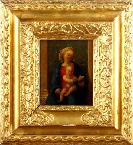 Italian School, 19th Century Madonna and child