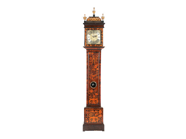 A William and Mary walnut and marquetry longcase clock inscribed John Billic (recorded London 1687-1699)