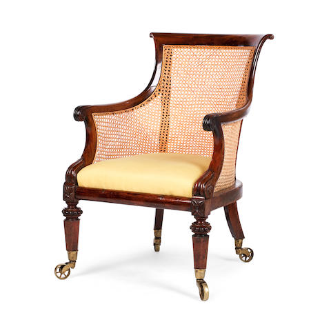 A George IV library bergere