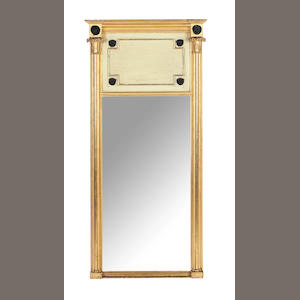 A pair of Regency carved giltwood and gesso pier mirrors