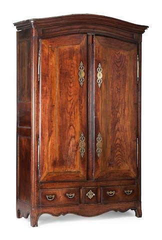 A Louis XV Breton chestnut armoire