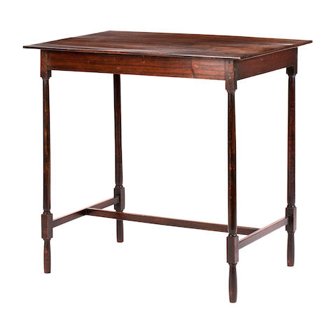 A Scottish George III mahogany tablelate 18th century