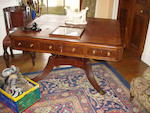A Regency mahogany partners' library table