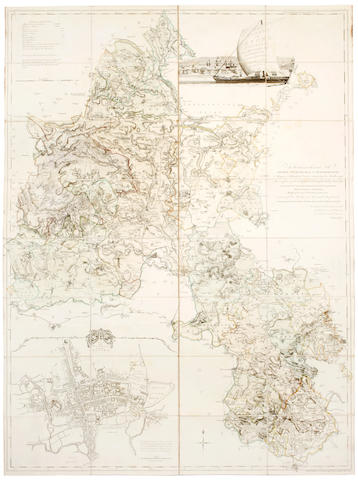 DAVIS(RICHARD) A New Map of the County of Oxford, 1797; JEFFERYS (THOMAS) The County of Oxford surveyed, 1769 (2)