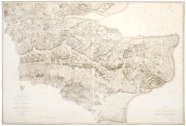 ANDREWS (JOHN) A Topographical-Map of the County of Kent,1769; MUDGE (WILLIAM) General Survey...Kent with Part of the County of Essex, 1801 (2)