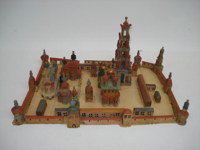 Wooden model of the Kremlin