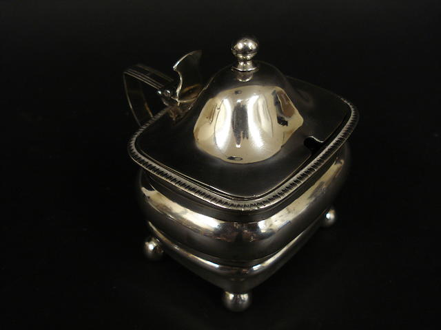 A George III Provincial silver mustard pot by George Murray, Newcastle circa 1805