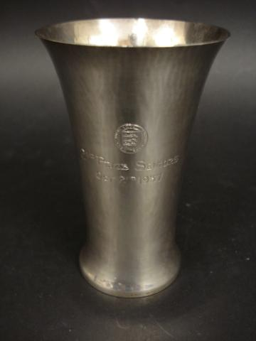 Of West Middlesex Golf Club interest; A silver presentation beaker by Charles Boyton, London 1937, signed