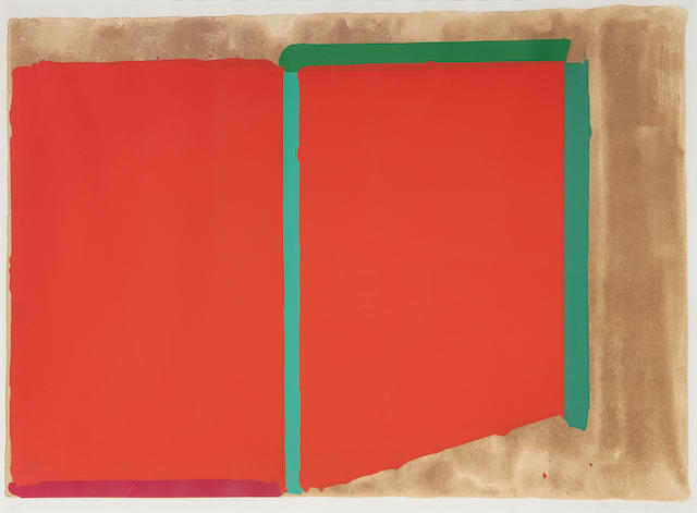 John Hoyland RA (British, 1934-2011) Reds, Greens Lithograph printed in colours, 1969, on wove, signed, dated and inscribed 'AP' in pencil, an artist's proof aside from the numbered edition of 75, 585 x 900mm (23 x 35 1/2in)(I)