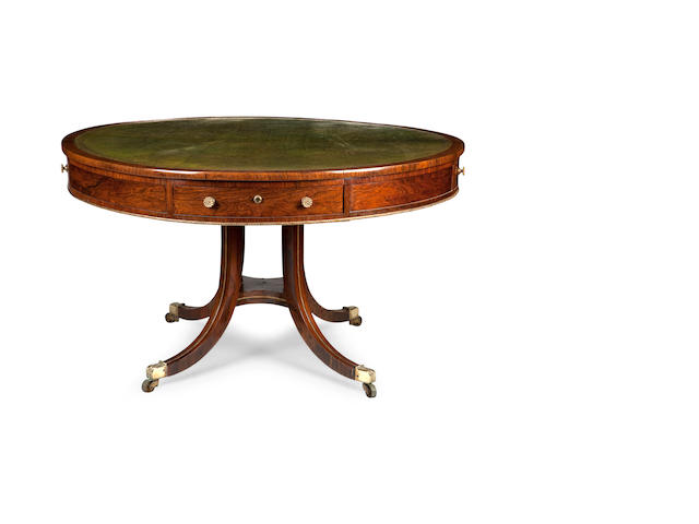 A Regency rosewood and gilt-metal mounted library tableIn the manner of Gillows
