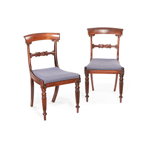 A set of six Regency rosewood dining chairs in the manner of Gillows