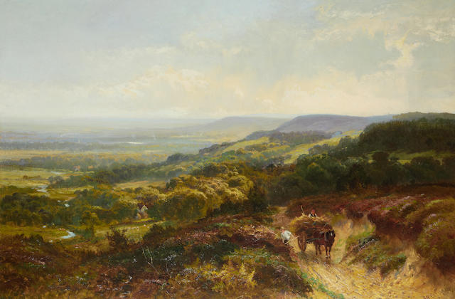 Walter Wallor Caffyn (British, 1845-1898) Bracken gathering