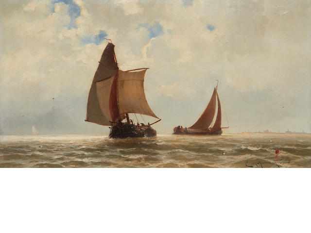 Jacob Eduard van Beest Heemskerk (Dutch, 1828-1894) Shipping off the Dutch coast