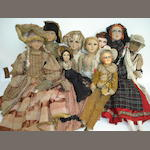 Collection of nine Boudoir dolls 9