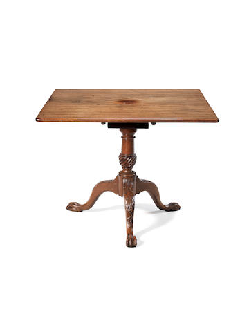A small George II Irish carved mahogany breakfast table