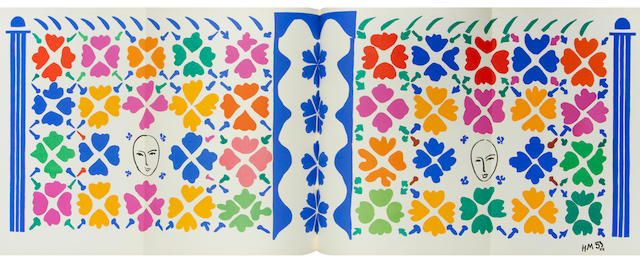 Henri Matisse (French, 1869-1954) Verve: Volume IX, Nos 35 & 36. Dernières Oeuvres de Matisse 1950-54. The book, 1958, comprising 40 lithographs in colours after Matisse printed by Mourlot, with text in French, publsihed by Editions de la Revue Verve, Paris, within original illustrated boards, 365 x 275mm (14 3/8 x 10 3/4in)(overall)