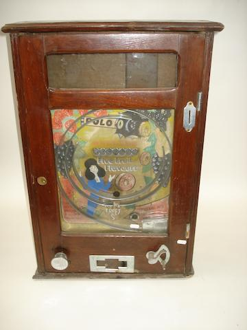 An Oliver Whales 'Fruit Polo' win wall machine,